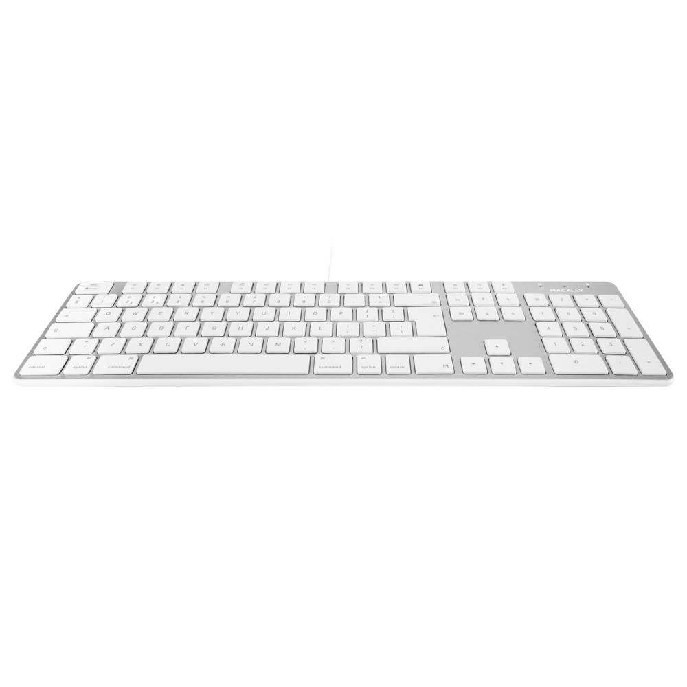 Macally SLIMKEYPROA-UK 104 Key USB keyboard